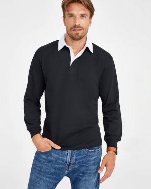 polo promotionnel style rugby pour homme