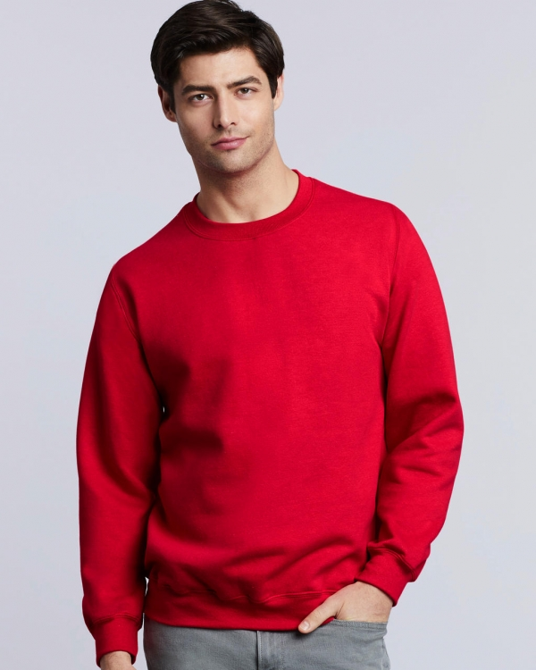 sweat crewneck homme rouge