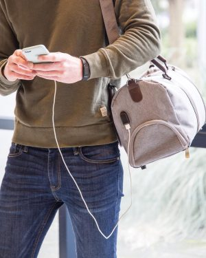 sac weekend avec prise chargeur USB