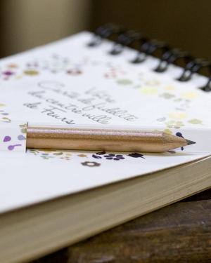 bloc notes promotionnel avec crayon de bois