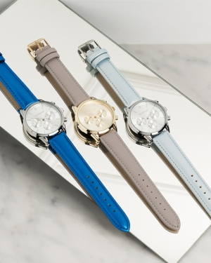montre promotionnelle luxe avec chronographe cacharel