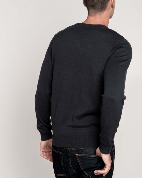 pull classique col v homme