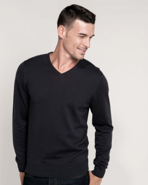 pull publicitaire col v pour homme kariban
