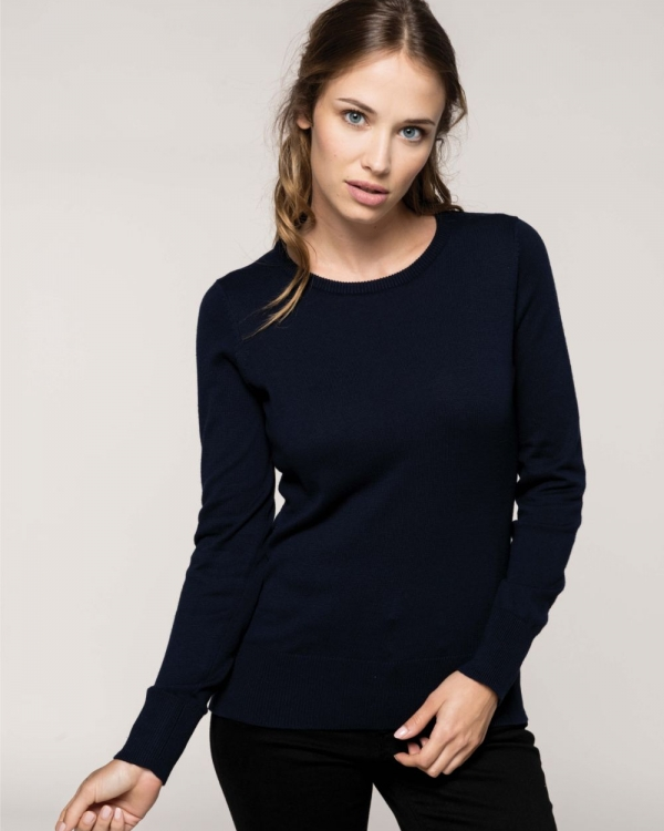 pull promotionnel col rond pour femme