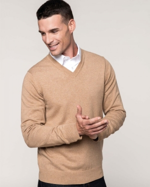 pullover publicitaire col v homme