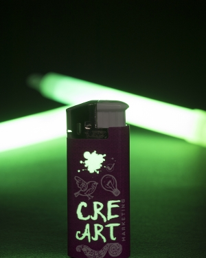 briquet publicitaire glow in the dark