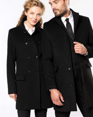 manteau long textile corporate Kariban