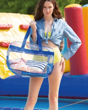 sac de plage publicitaire transparent anti sable