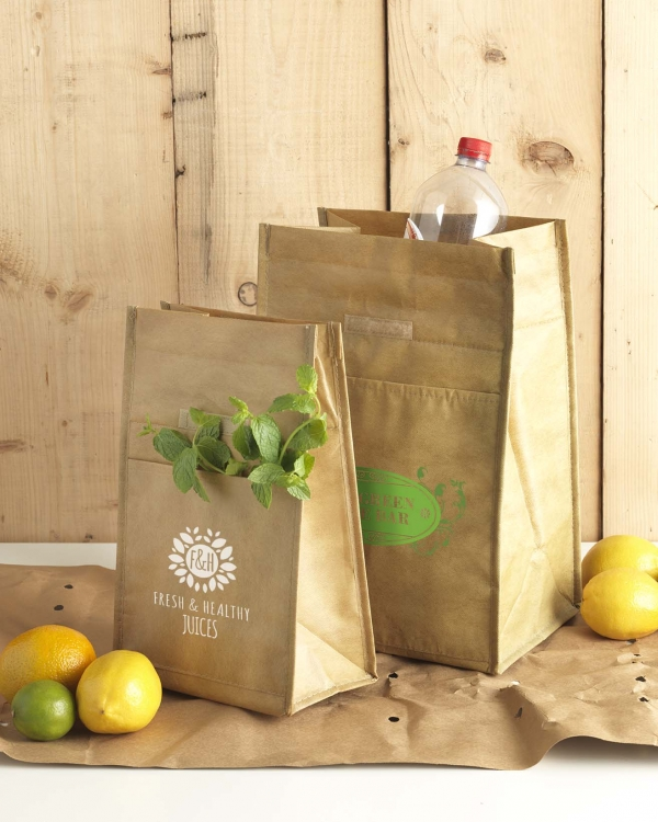 sac isotherme style lunch box en papier
